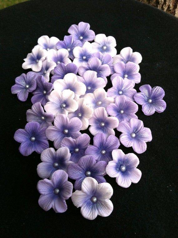 Gum Paste Blossoms Different Shades Of Purple Gum Paste Flowers Gum Paste Sugar Paste Flowers