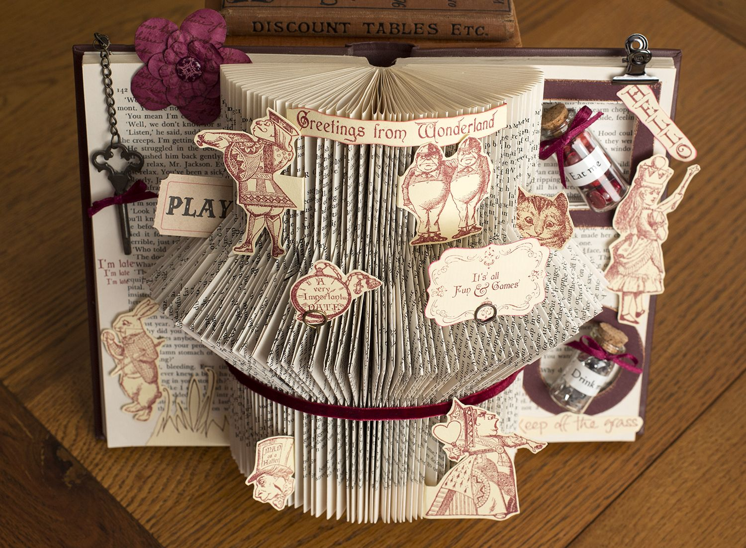 folded book and alice in wonderland - Google Search