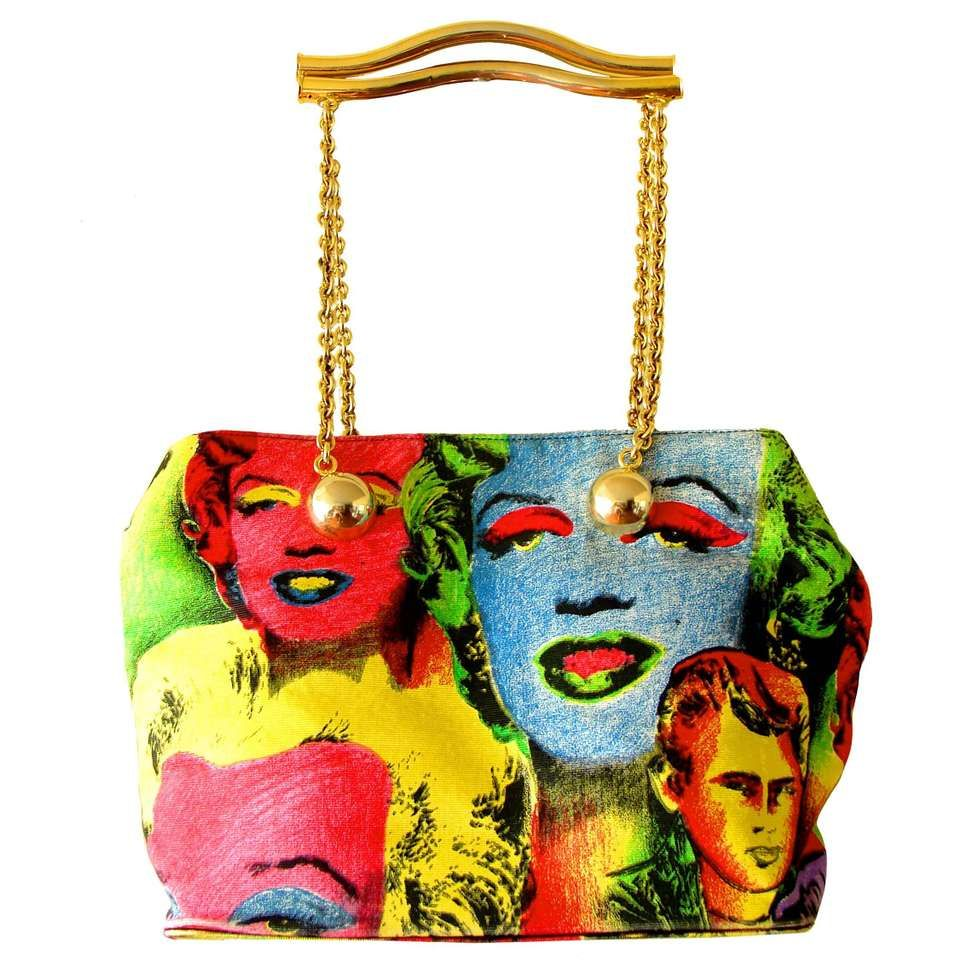 c054596a65f1 Gianni Versace Couture Handbag Warhol Collection 1991 Marilyn Monroe Pop  Art 1