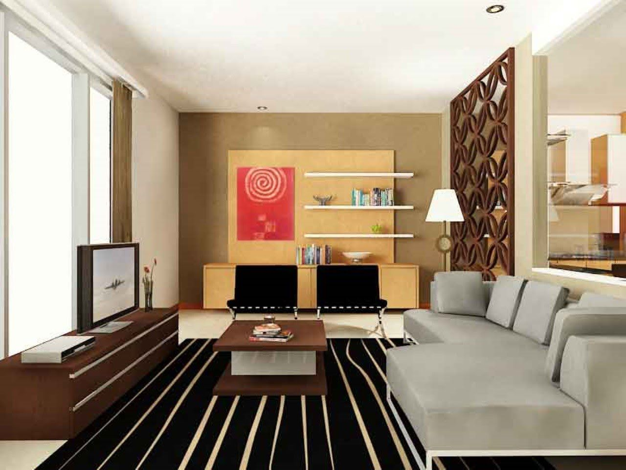 interior design for small l shaped living room minimalist style