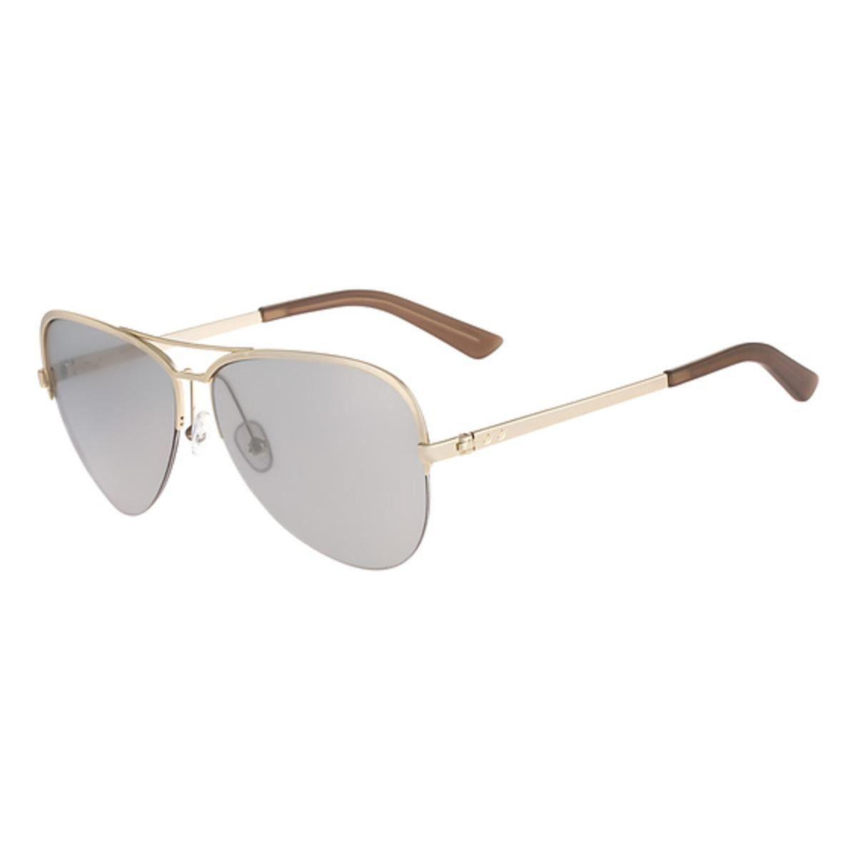 Calvin Klein Collection Womens Semi Rimless Oversized Aviator Sunglasses
