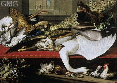 Still Life with Poultry and Venison Frans Snyders