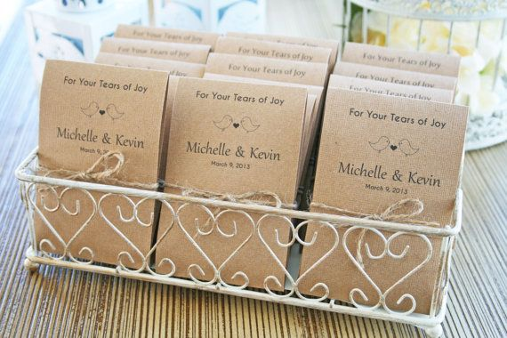 Tears Of Joy Tissue Packs Wedding Tissues By Peeflowersstudio 26 00