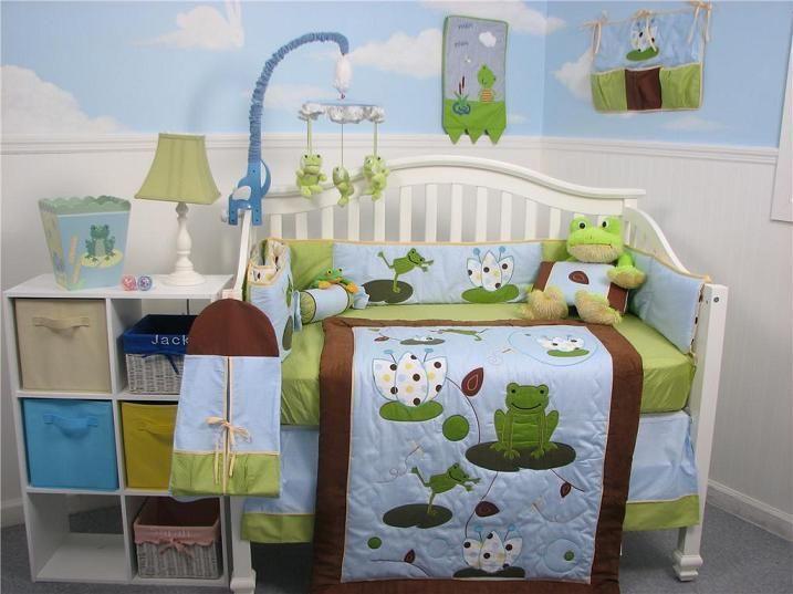 13PCS Pink Grey Bohemia Baby Nursery Crib Bedding Sets  Holiday Special