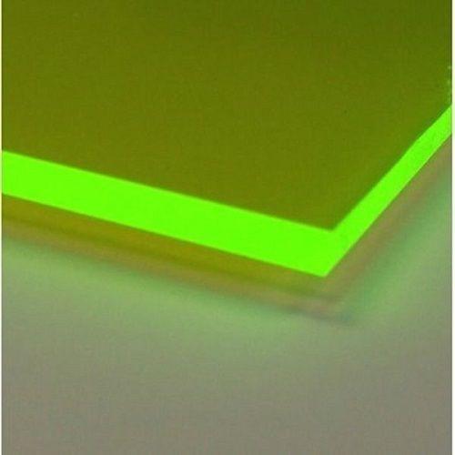 Green Fluorescent Acrylic Plexiglass 1 8 X 12 X 24 Plastic Sheet Acrylic Plastic Sheets Plastic Sheets Plexiglass Sheets