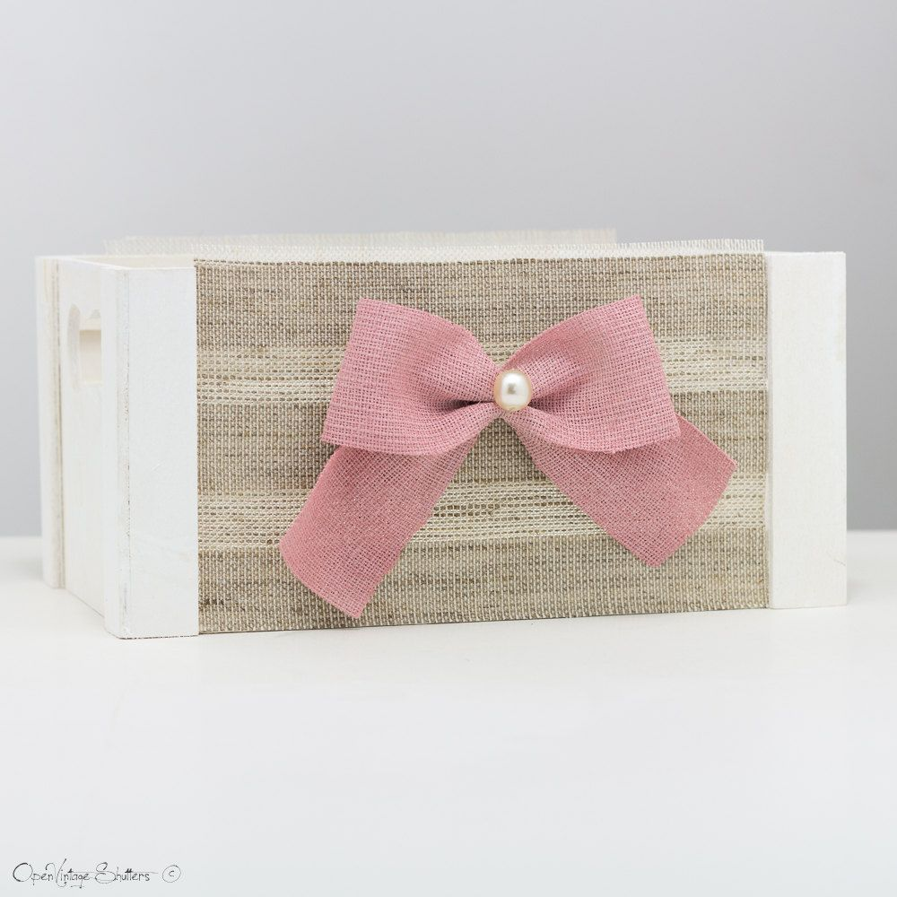 Baby Shower Centerpiece Wood Crates Baby Shower Decoration Pink And White Nursery Wedding Card Box Vintage Wood Box Wedding Centerpieces White Wedding Card Box