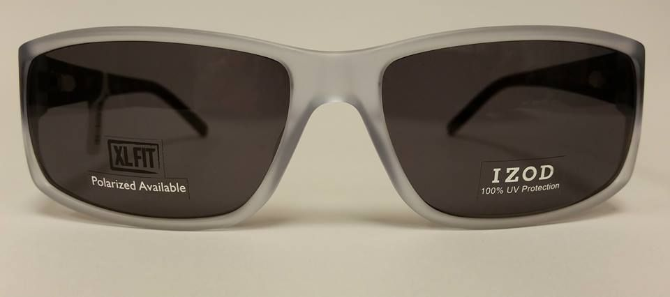 f88c3b4515 These Izod sunglasses for men offer 100% UV protection. Extra-large fit and polarized  lenses are available.