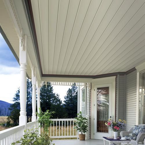 Soffit Ceiling Beaded Soffit To Cover Ugly Porch Ceiling | Dream Home In