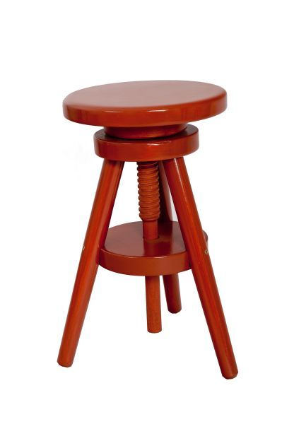 Tonby Adjustable Screw Seat Kitchen Bar Stool Wooden Frame