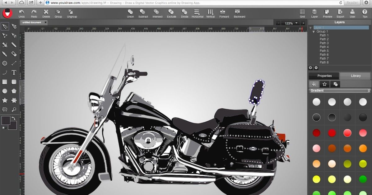 Online Vector Graphic Design Drawing Online Logo Maker