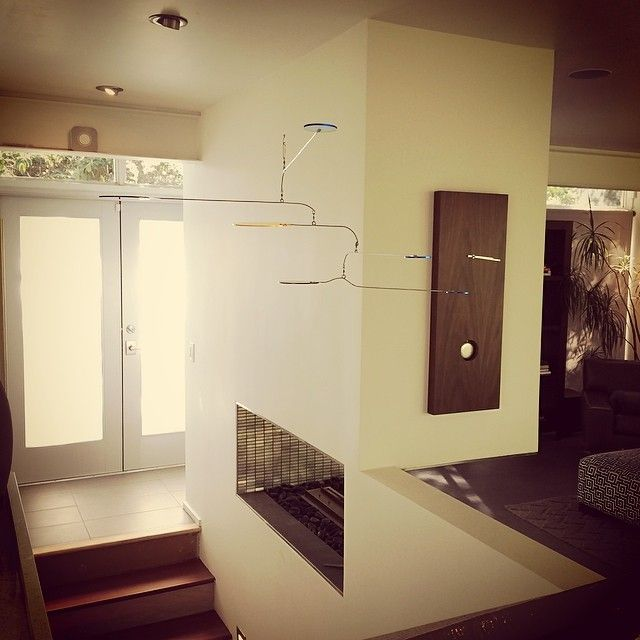 """Mobile above stairwell - Photo I just received from a happy customer (""""Mobile is amazing, well crafted. Thank you!"""")"""