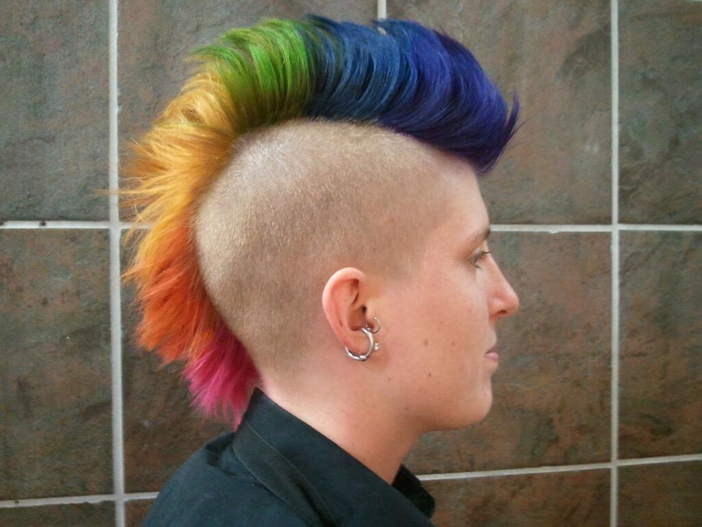 Rainbow mohawk aidm work pinterest
