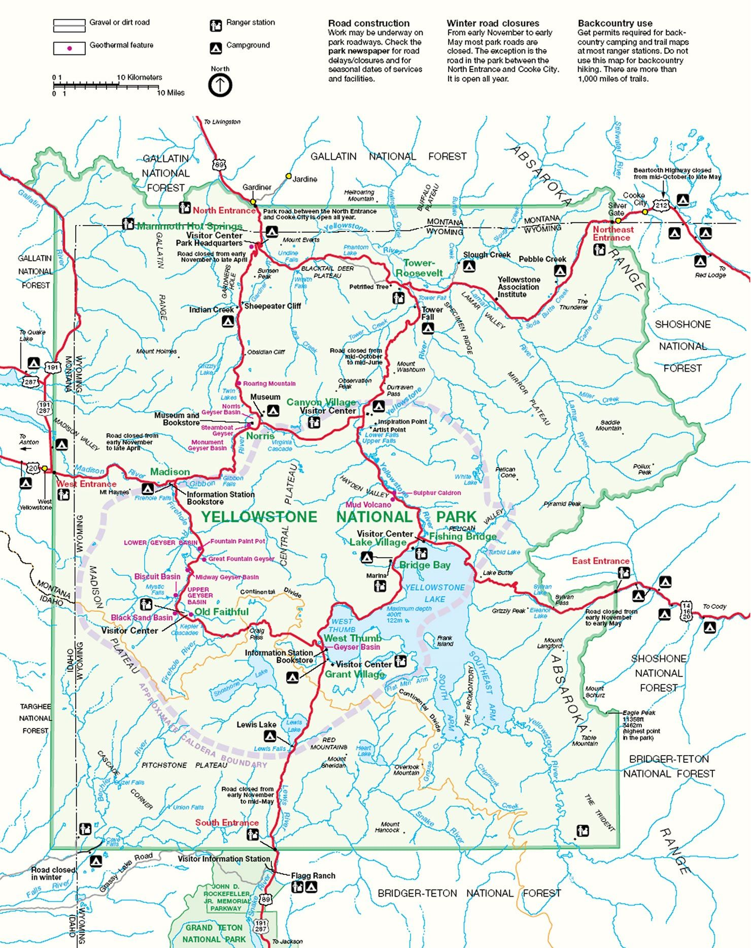 Yellowstone To Jackson Hole Map In