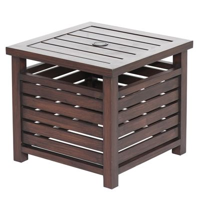 Allen Roth Umbrella Side Table Outdoor End Tables