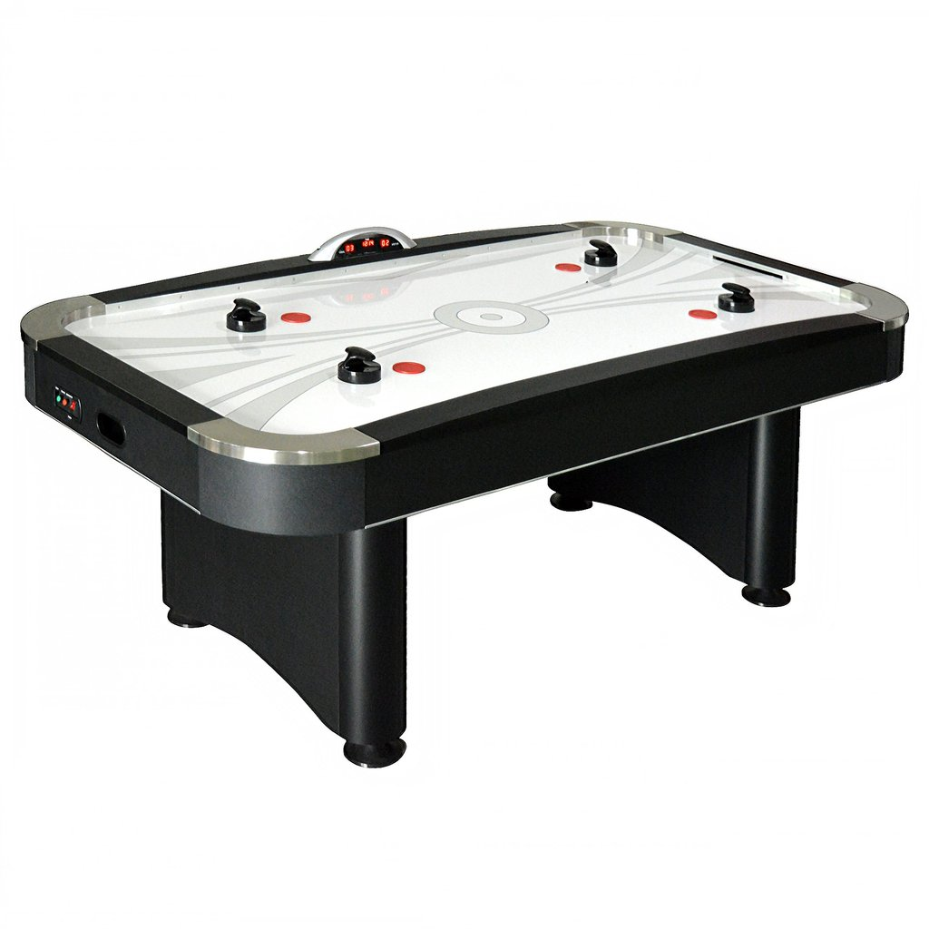 Hathaway Top Shelf 7ft Air Hockey Table With Electronic Scoring Air Hockey Table Air Hockey Aluminum Railing