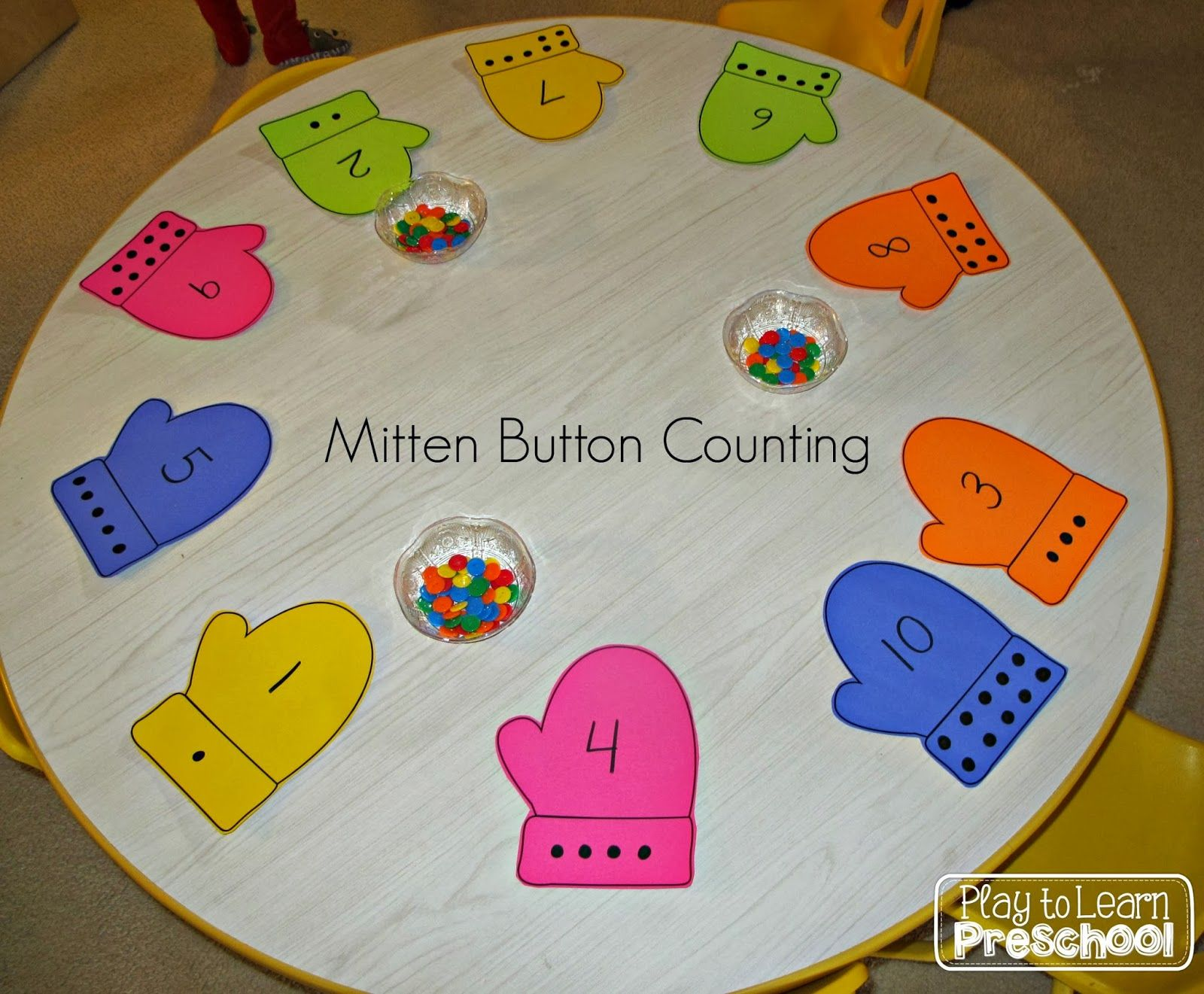 Mitten Button Counting Math Numbers Amp Counting