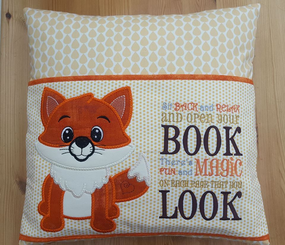 Reading pillow pocket wine and books