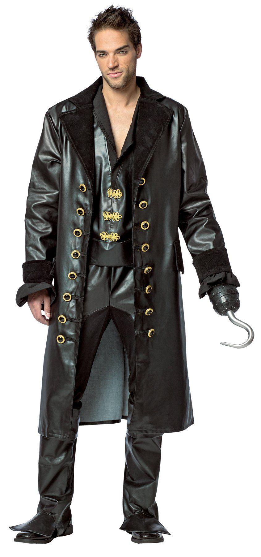 OnceUponATime Hook Adult Costume Medium Black faux