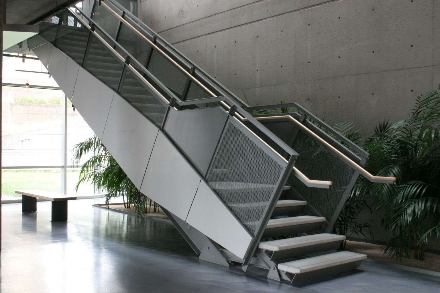Superb Metal Pan Stairs Stairs Pinterest Metal Stairs Stair Railing And Steel Stairs Design