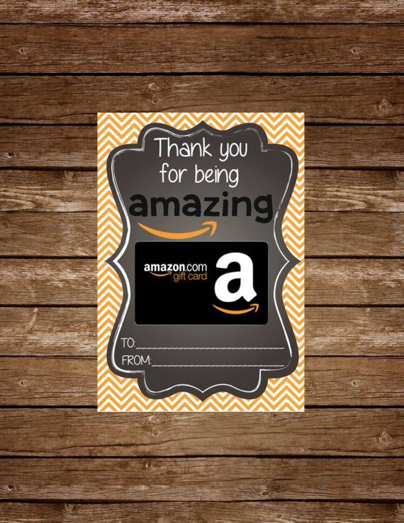 Amazon Gift Card Holder Tag Printable | Products