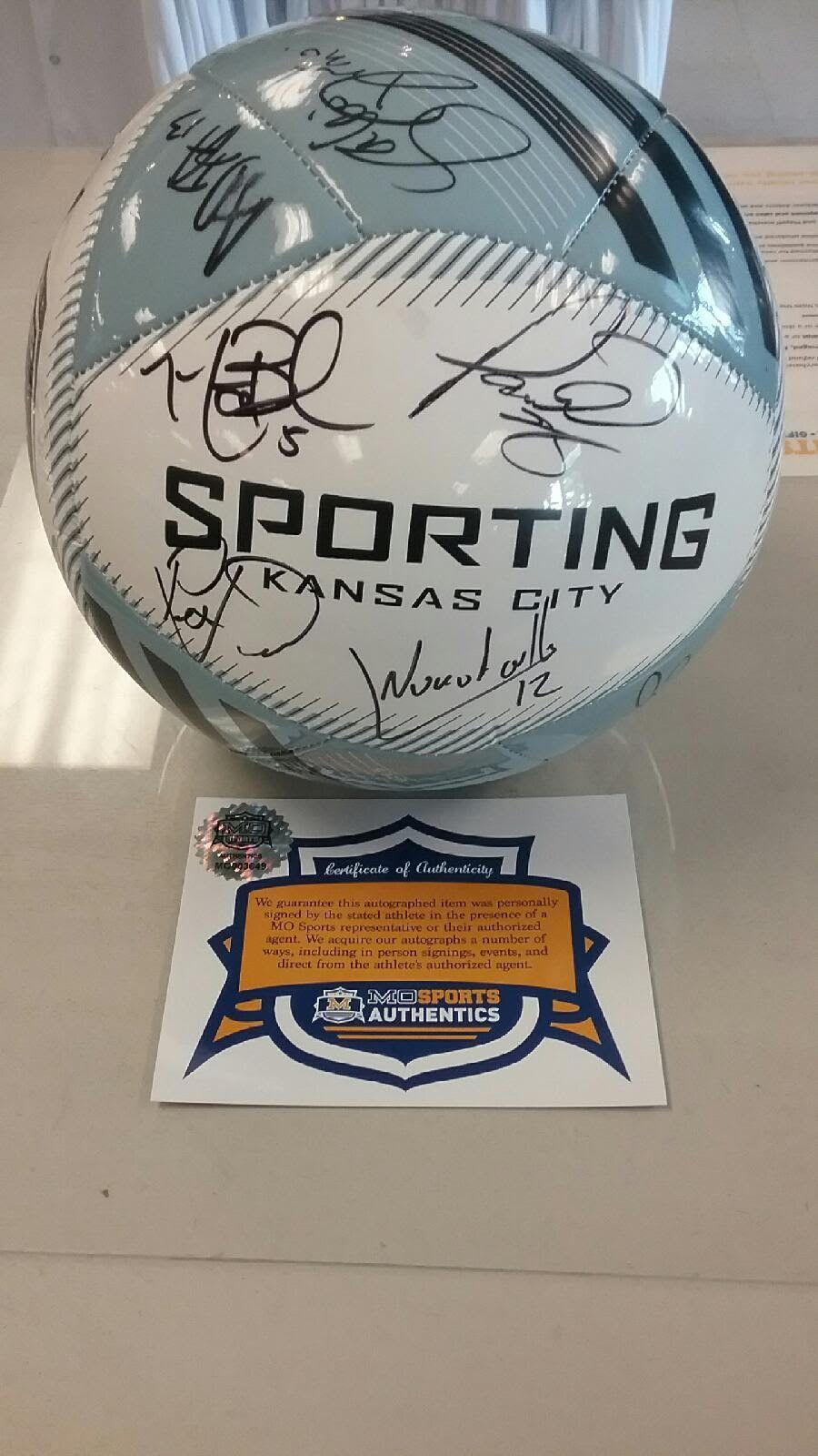 Sporting Kansas City 2016 Team Signed Soccer Ball COA