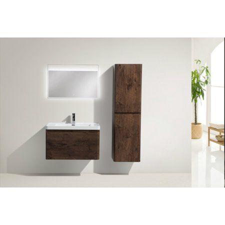 Happy Series 32 Inch Wall Mounted Single Sink Bathroom Vanity in