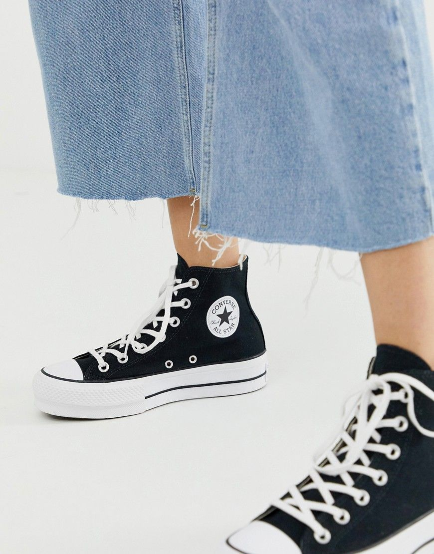 converse chuck taylor hi platform white sneakers
