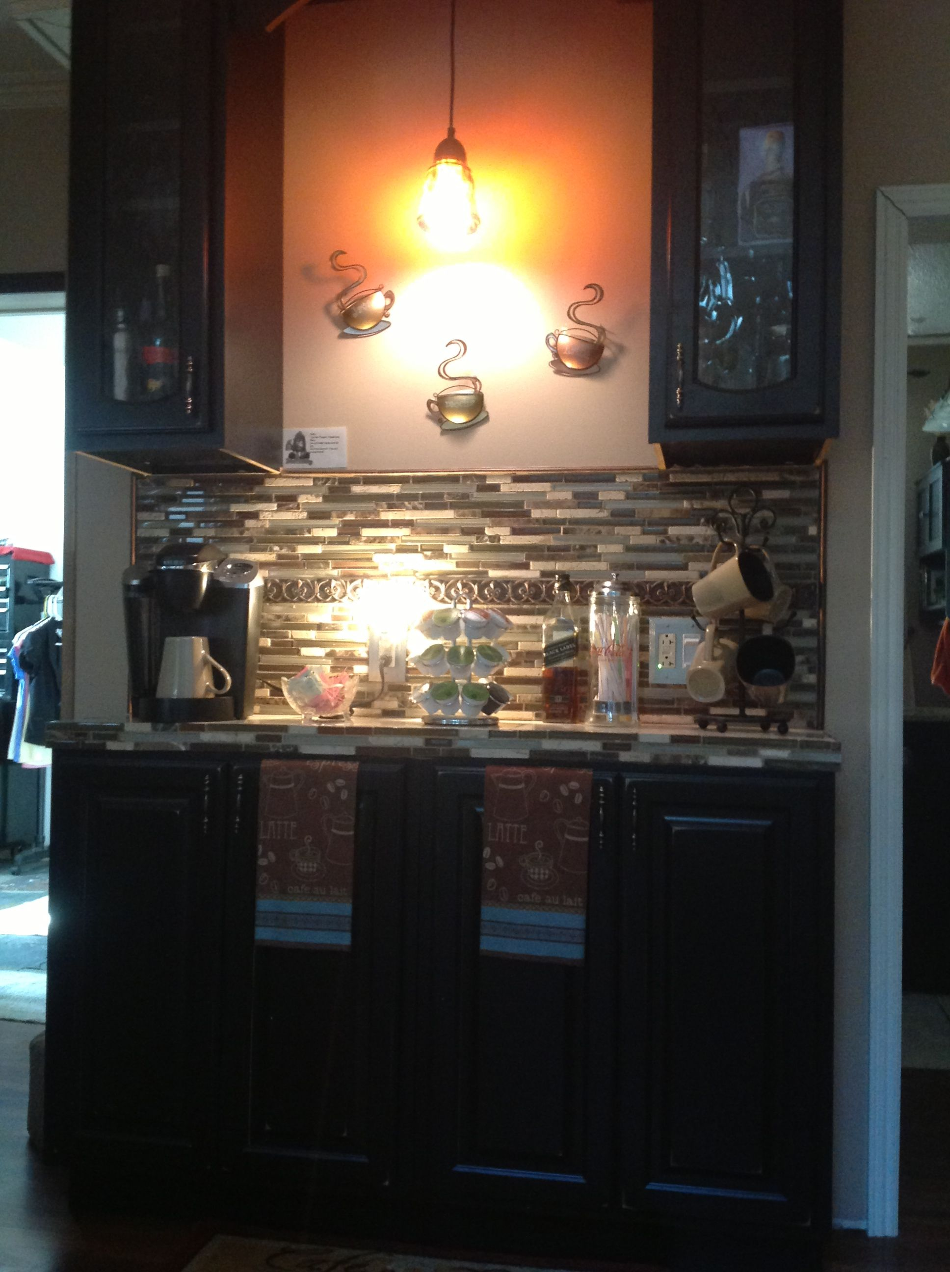 Coffee bar ideas this will be in place of the kitchen