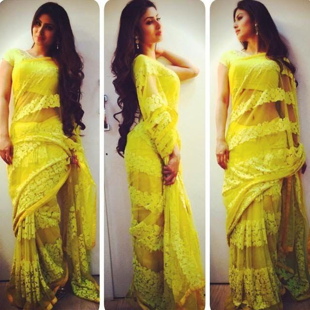 Mouni Roy shines like a Yash Raj heroine in sunflower yellow saree ...