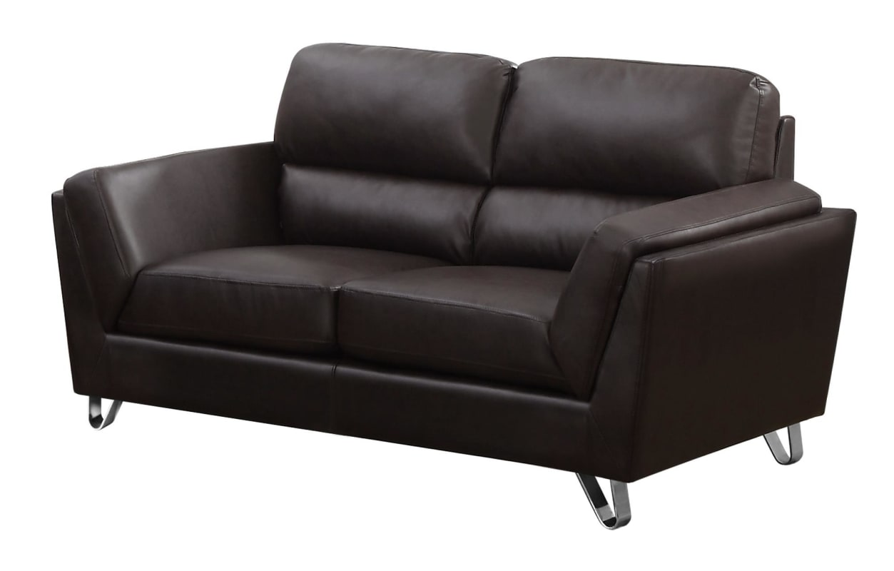 Monarch Specialties I 8202br 64 Inch Long Bonded Leather Loveseat