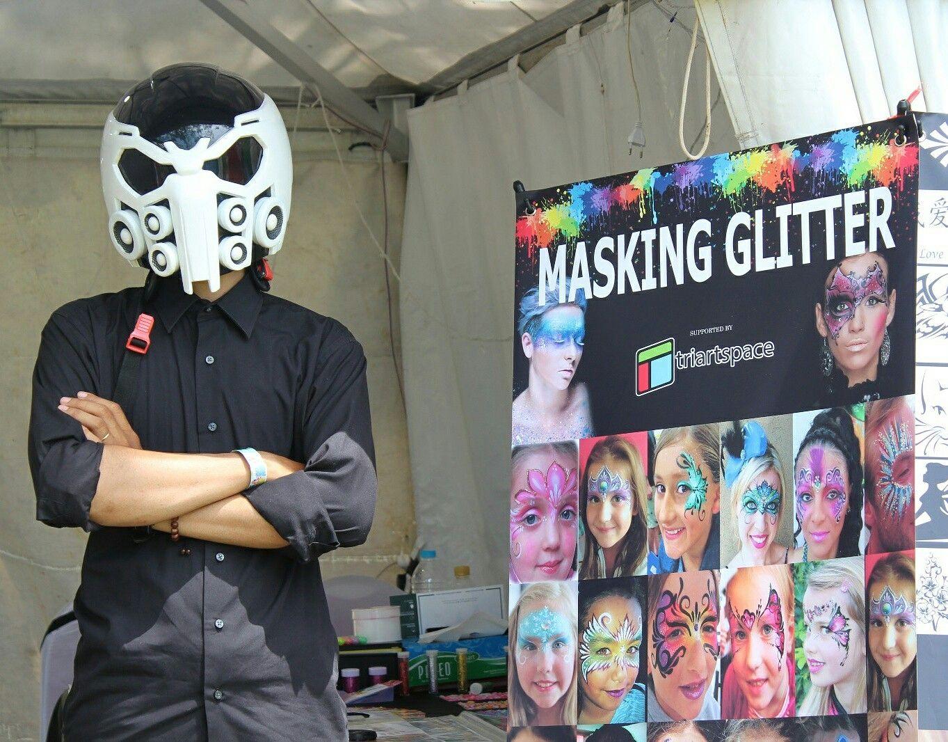 Masking Glitter Jakarta Bu face Painting Jakarta. Just