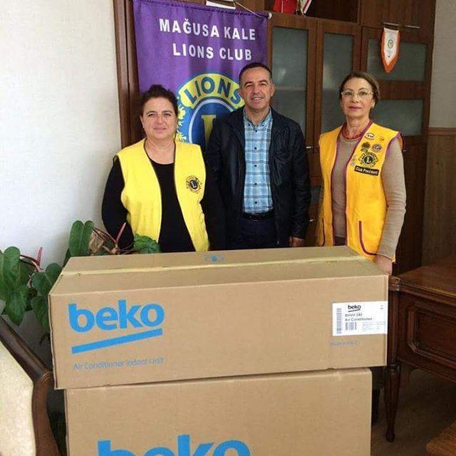 For the comfort of the students at Çanakkale Middle school we have donated a new air-conditioning unit.  #magusakalelions #famagustacastlelions #northcyprus #lionsclub #lionsfamagustacyprus #lionseverywhere #lions100 #magusa #kktc #trnc #kuzeykibris #kuzey #kıbrıs #lionsclubsinternational