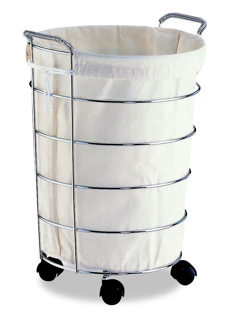 Laundry Basket With Canvas Bag Rolling Laundry Basket Metal Laundry Basket Laundry Basket On Wheels