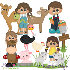 Petting Zoo Svg Cutting Files Clipart Animals Baby Cutting