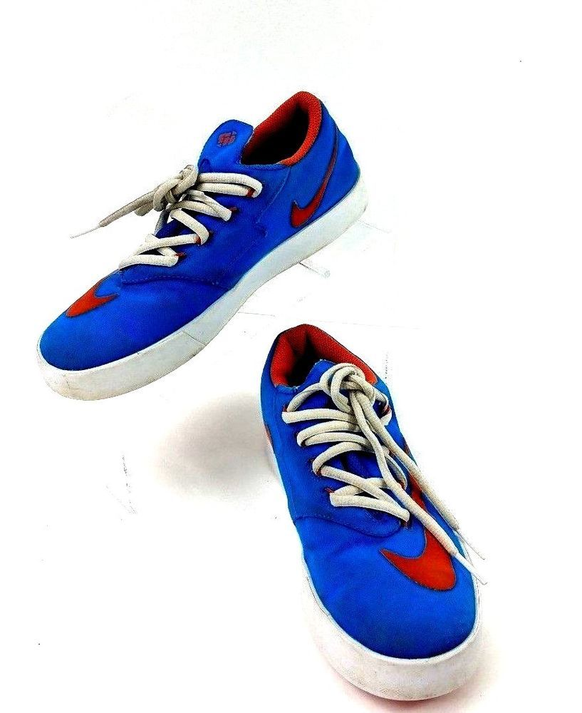 c4fc8e1c6f10 Nike KD Vulc Youth Sz 6 Youth Sneakers Boys Athletic Blue Orange Shoe  642085-40