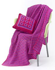 """47""""x55"""" (roughly) blanket. Only uses a single stitch and chains. Easy enough!"""