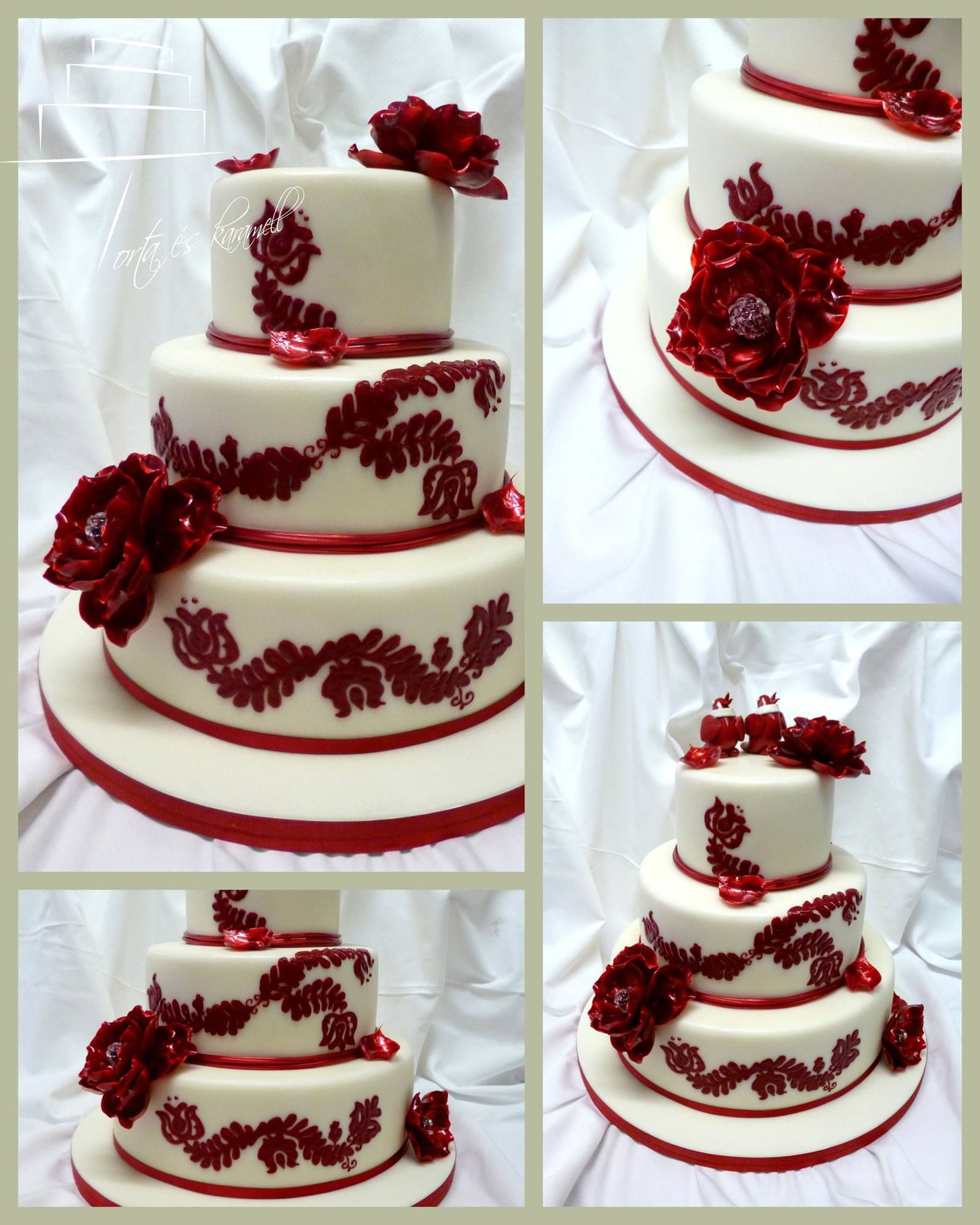 Maroon and cream wedding decor  Pin by Mariela Quiroga on Red Wedding Ideas  Pinterest  Cake