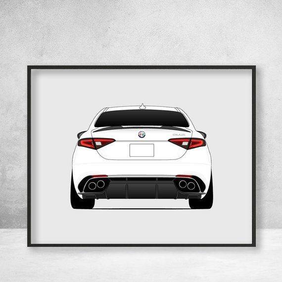 Poster Print Of The Alfa Romeo Giulia. It's Italian, It's