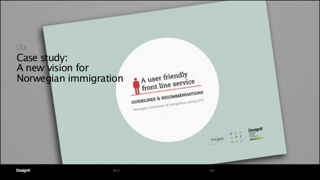 UDI Service Design Case Study by Designit via slideshare