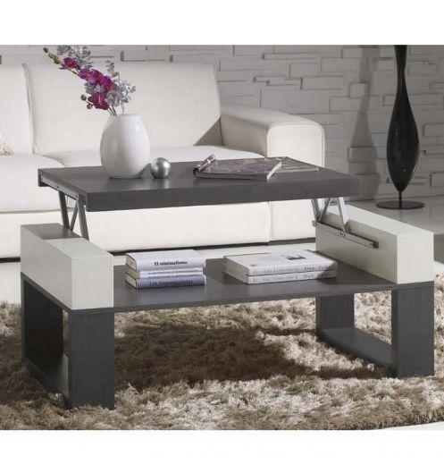 table basse relevable bois gris httpwwwdeco et saveurs