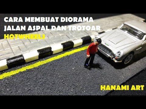 Cara Membuat Effect Jalan Aspal (Dari Pasir) dan Trotoar Diorama Diecast / Road Sidewalk Hotwheels - YouTube