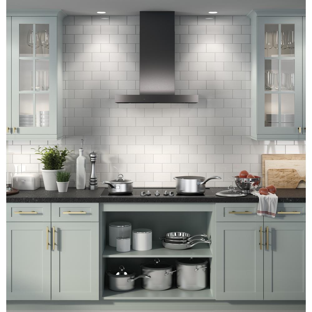 Ge 30 In Smart Wall Mount Range Hood In Black Stainless Steel Fingerprint Resistant Uvw9301blts In 2020 Outdoor Kitchen Appliances Kitchen Remodel Kitchen Decor
