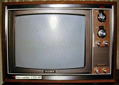 picture of an sony 1980 TV   sony kv 1710 circa 1970 source