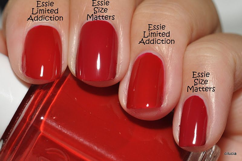 Comparison: Essie Size Matters and Essie Limited Addiction | Nail ...