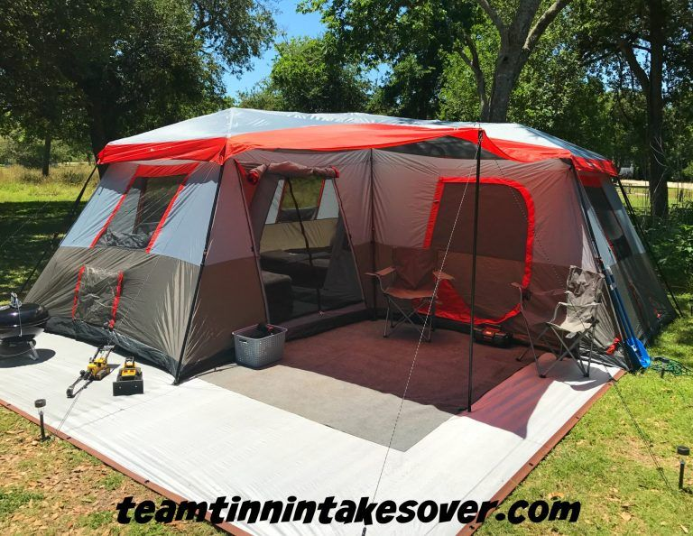 Ozark Trail 12 Person L Shaped Instant Cabin Tent Review Team Tinnin Takes Over In 2020 Cabin Tent Family Tent Camping Tent Glamping