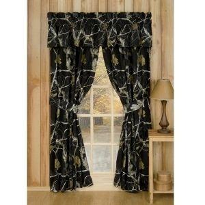 Realtree Camo Window Drapes Black Drapes Rod Pocket Drapes Rod Pocket Curtain Panels