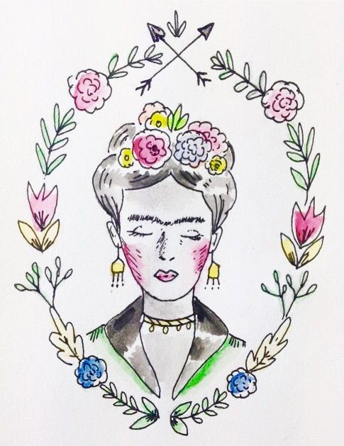 Frida Kahlo Drawing By At Lapinluo On Instagram Tejidos