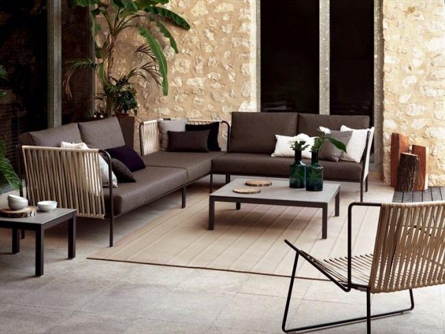 design lounge möbel terrasse sofa set tisch javier pastor EXPORMIM ...