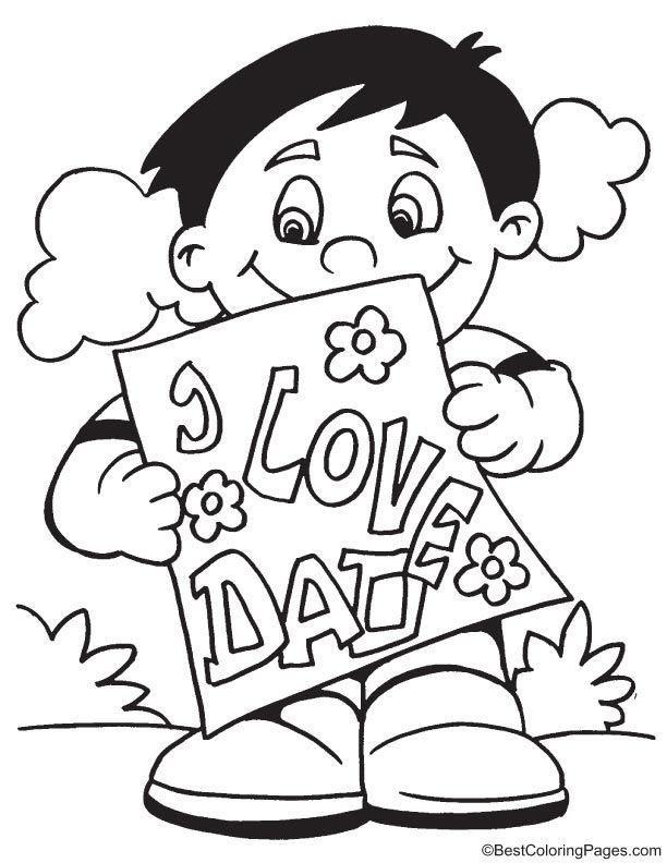 Fathers day card coloring page coloring pages Pinterest Father - new coloring pages i love you daddy