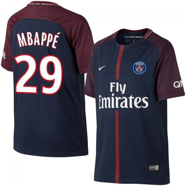 87c6a66afc3da PSG 2017-2018 + Mbappe 29 (Dorsal Estilo Fan)  psg  mbappe  shirt ...